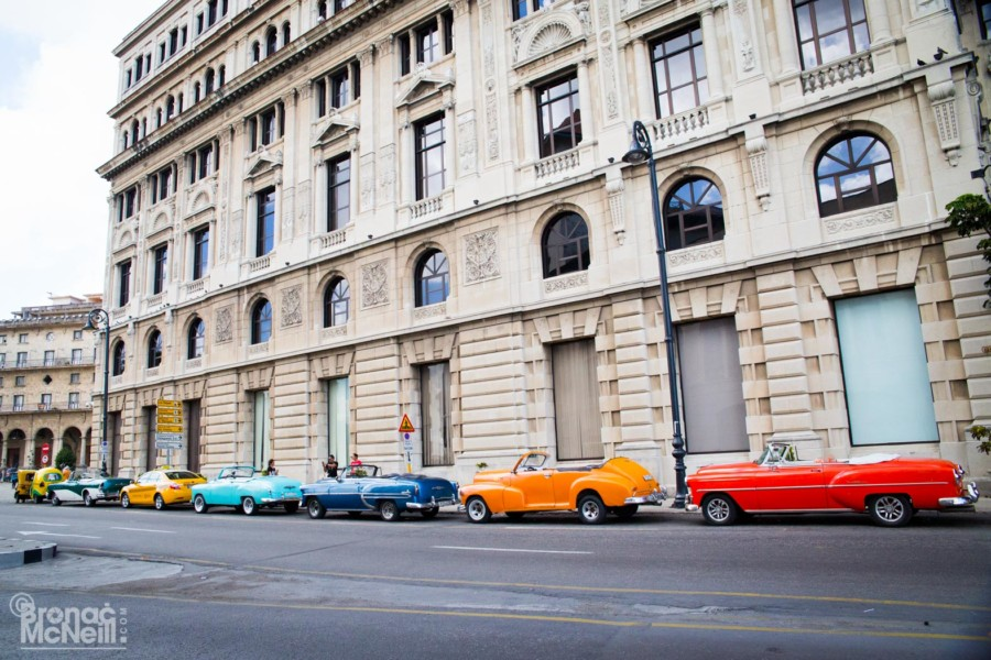 Colourful Cars in Cuba photographed by Bronac McNeill